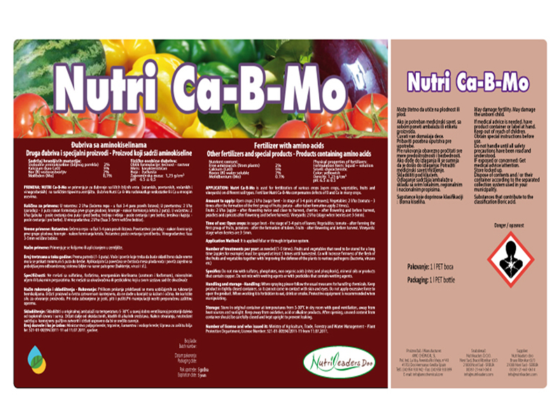 nutri Ca-B-Mo 1lit