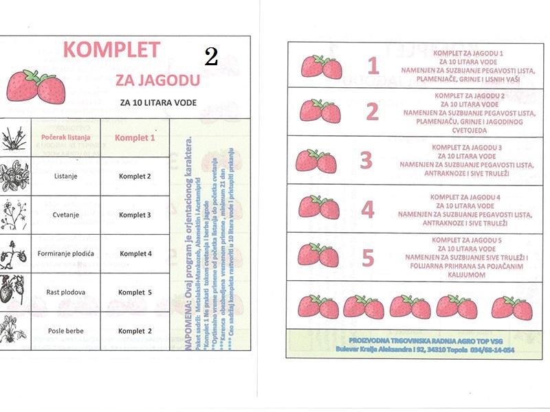 Komplet Jagoda 2 za 10lit