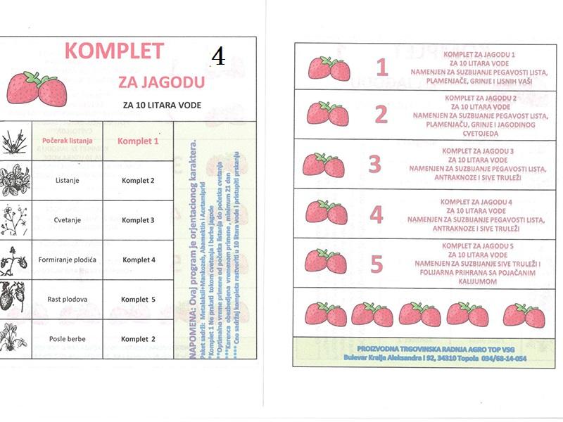 Komplet Jagoda 4 za 10lit