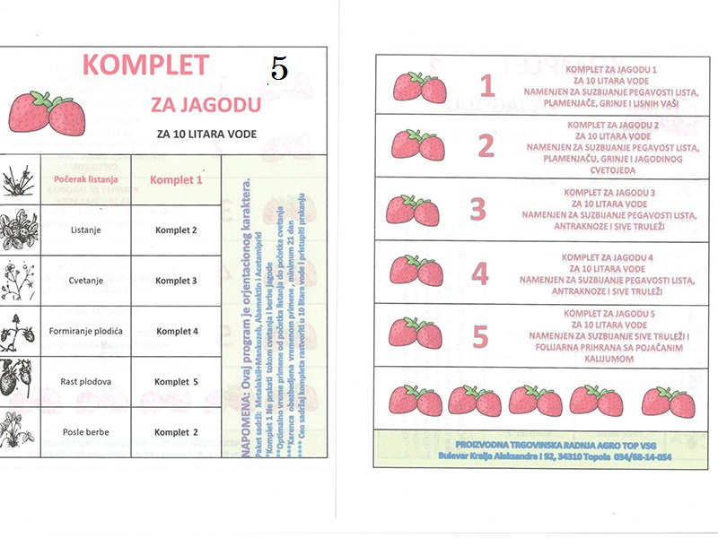 Komplet Jagoda 5 za 10lit