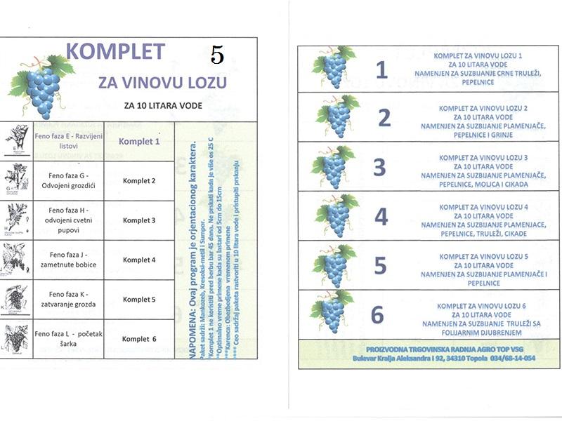 Komplet V.loza 5 za 10lit